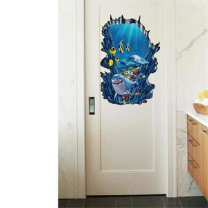 "Under the Sea - Wall Sticker, Wall Decal, Wall Decor - 24""x35"""