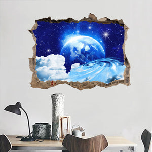 "Starry Sky - Wall Sticker, Wall Decal, Wall Decor - 18""x24"""