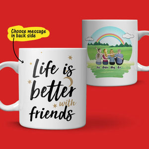 Personalized Best Friends Coffee Mug - For Woman & Man