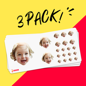 Custom Face Sticker Sheet - Baby