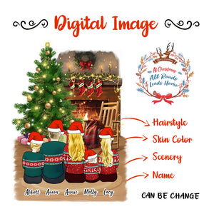 Christmas Family Digital Picture Design Your Own, Share and Get $1 OFF Coupon Code