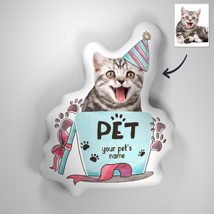 3D Portrait Pillow for Small Pets in Cup