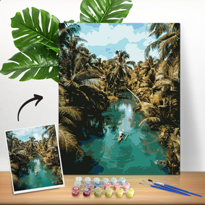 DIY Paint by Numbers, Custom Scenery Photo Wall Decor Oil Painting Canvas