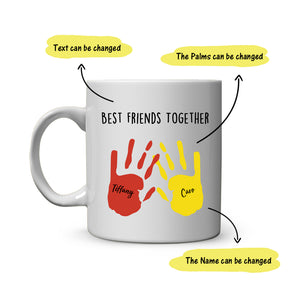 Colorful Hands Coffee Mug-Best Friends and Family