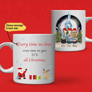 Christmas Personalized Best Friends Coffee Mug For Girls