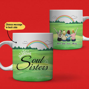 Personalized Best Friends Coffee Mug For Girls