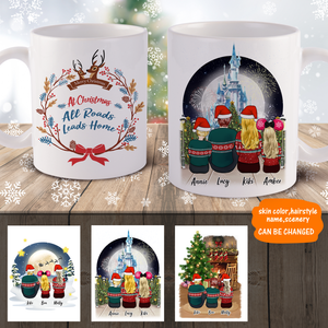 Christmas Family Personalized Coffee Mug Easy Design disney