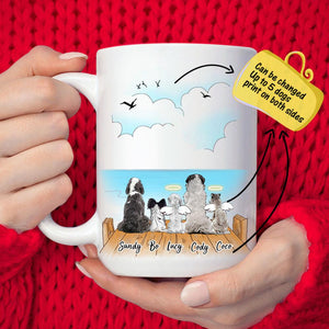 MyPhotoMugs?Personalized Dog And Dog's Friends Coffee Mug -  Innocent sea and seagulls