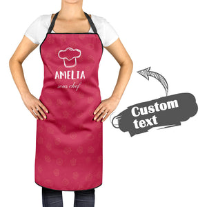 Custom Kitchen Cooking Apron with Name of Mother and Child