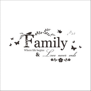 "Family - Wall Sticker, Wall Decal, Wall Decor - 8""x22"""