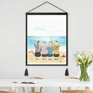 Personalized Clipart Tapestry for Besties 8inch x 10inch