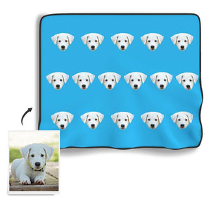 Face Colorful Personalized Fleece Photo Blanket