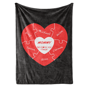 We Love You To Pieces Personalized Custom Name Blanket