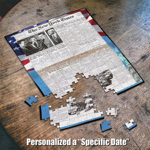 The New York Times Jigsaw Puzzle News Paper Puzzle Personalized Date Your Memory Day Puzzle 500 - 1000 pcs