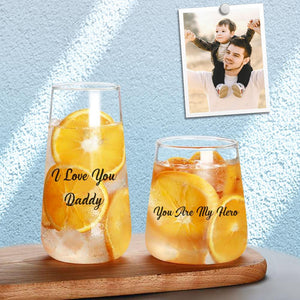 Personalized Stemless Wine Glass With Text