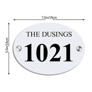 Personalized Door Signs Custom House Signs Plates Door Plates Oval - 2