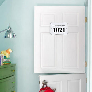 Personalized Door Signs Custom House Signs Plates Door Plates Pillow Shaped - 2