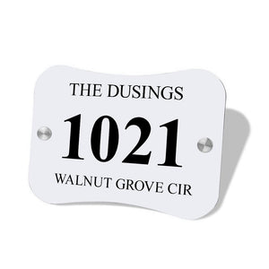 Personalized Door Signs Custom House Signs Plates Door Plates Pillow Shaped - 3
