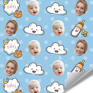 Custom Face Gift Wrap-Lovely Baby