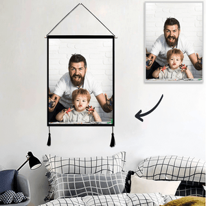 Father's Day Gifts Photo Tapestry - Wall Decor Personalized Tapestry