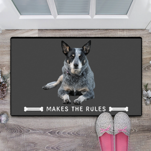 Custom Dog Photo Doormat Your Pet Makes The Rules With Your Pet's Photo