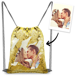 Unicorn Custom Lover Photo Sequin Backpack