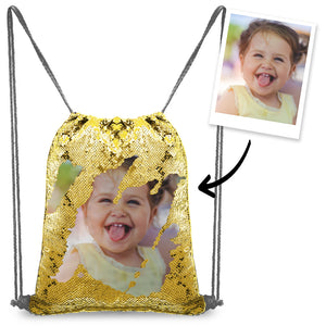Custom Photo Sequin Backpack Gifts for Baby