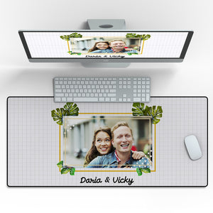 "Custom engraved Photo Mouse Pad Enjoy The Life - 16""x35"""