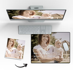 "Custom engraved Photo Mouse Pad Gifts for Family - 7""x9"""