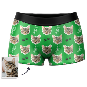 Men's Custom Cat Boxer Shorts