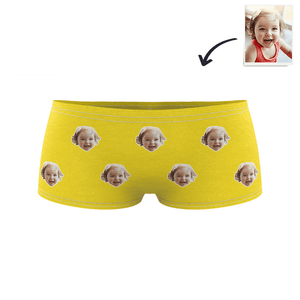 Kids Custom Colorful Face Boxer Briefs