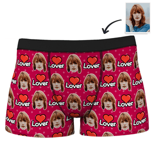 Men's Custom Face Colorful Boxer-Lover