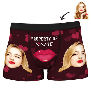 Custom Sexy Red Lips Boxer Shorts