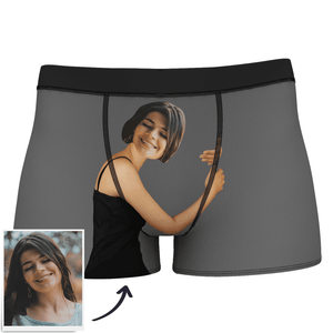 Men's Custom Face On Body Boxer Shorts - Tan Skin