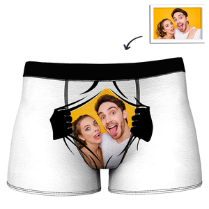 Custom Girlfriends Face with Hands Boxer Shorts
