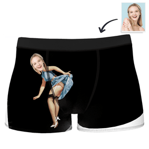 Custom Sexy Girlfriend Face Boxer Shorts