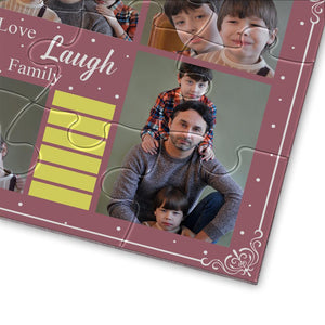 Personalized Photo Jigsaw Puzzle Love Laugh Family - 35-500 pieces