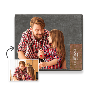 Men's Custom Photo Wallet - Handsome Dad