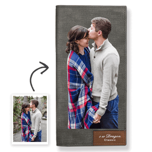 Women's Custom Photo Wallet Grey Color Printing
