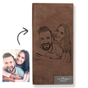 Custom Photo Wallet | Personalized Wallet | Couple Bifold Long Style Wallet