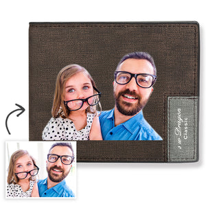 Men's Custom Photo Wallet - Best Dad