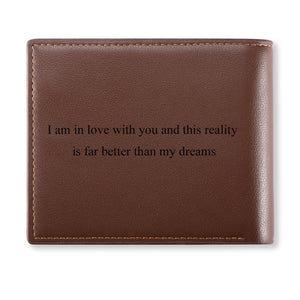 Custom Men's Trifold Photo Wallet Brown