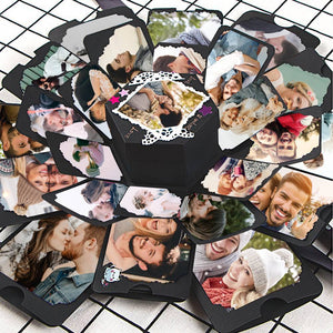 Creative Diy Photo Box Hexagon Multi-layer Explosion Box - Romantic Night Sky