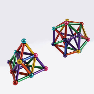 DIY Magnetic Sticks and Balls Intelligent Stress Relive Toys