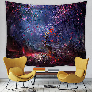 Forest Tapestry, Nature Tree Popular Elves Wall Decor Hanging Tapestry
