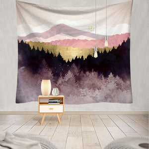 Mountain View Tapestry Trippy, Wall Decor Hanging Tapestry