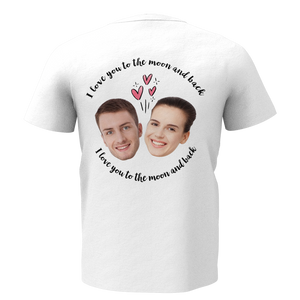 Custom Face Love Man T-shirt - Myfaceshirt