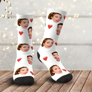 Custom Photo Love Face Socks