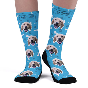 Custom Upgrade Breathable Photo Socks With Text