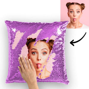 "Sweet Girl Personalized Reversible Sequin Pillow 15.75""*15.75"""